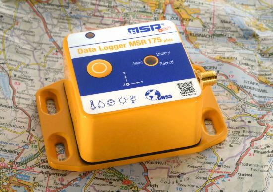 Neuer Transport-Datenlogger MSR175plus mit GPS und Schock-Erfassung