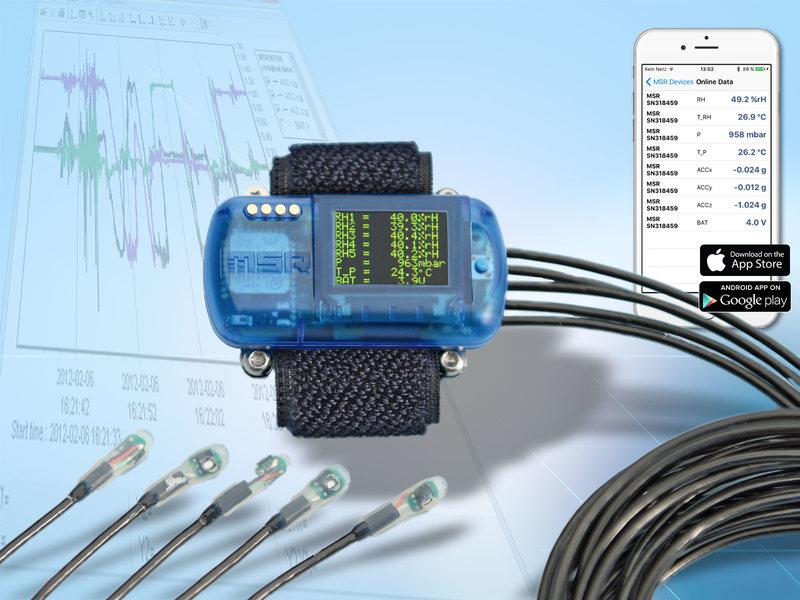 MSR147WD: Funkdatenlogger mit Stecksensoren