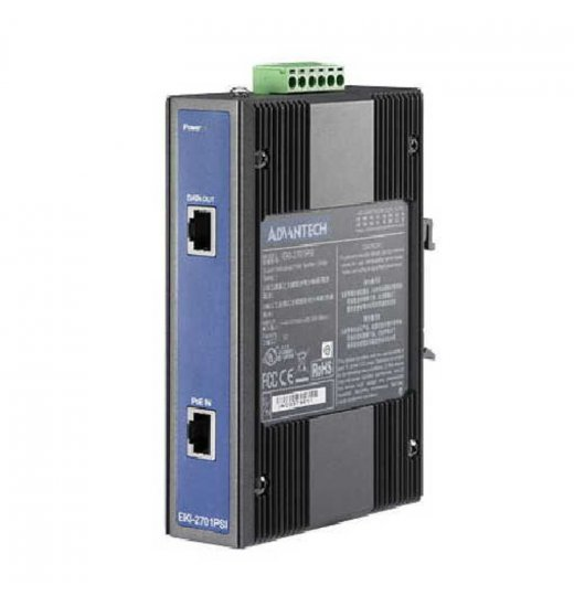 EKI-2701PSI Industrie Ethernet PoE Splitter, Betriebstemperatur -40......75°C
